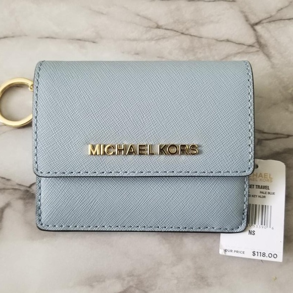 1846e9e9d1f0 Michael Kors Bags | Nwt Light Blue Card Holder Wallet | Poshmark